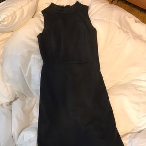 Charcoal mock neck suiting dress